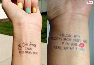 egyedi tetoválás lánybúcsúra, lánybúcsú ötletek, egyedi lánybúcsú, lemosható tetoválás lánybúcsúra
