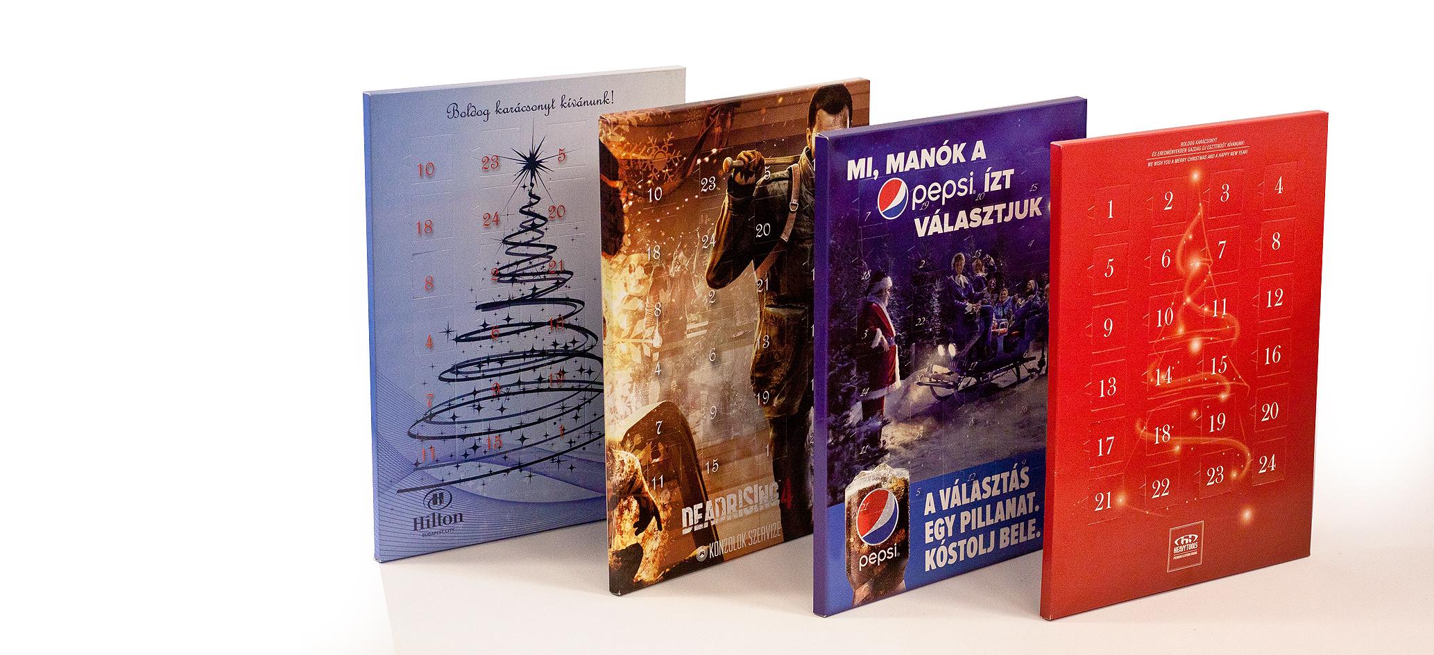 31c6c909c6 Adventi naptár, egyedi reklámajándék, üzleti ajándék – Lollipop Reklám
