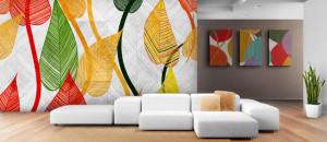 nyomtatott tapéta, iroda dekoráció, egyedi tapéta, fotó tapéta