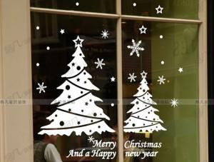 karácsonyi dekoráció, ablakdekoráció, kirakat dekoráció, üzlet díszítés, nyomda