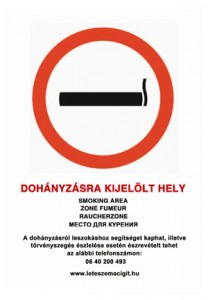 Dohányozni tilos matrica, nyomda, tábla, digitális nyomda, budapest