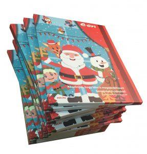 eon adventinaptár, egyedi karácsonyi ajándék, céges ajándék, reklámédesség, reklámcsoki