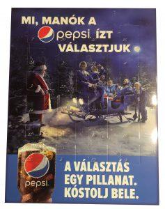 pepsi adventi, céges karácsonyi pepsi, reklámcsoki
