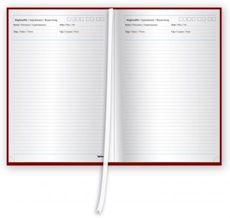reklámajándék, határidő napló, tárgyalási naptár, agenda, naptár, 2018