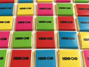 HBO, reklámcsoki, reklámédesség, egyedi csoki, mini csoki, reklámédesség, logós csoki, Magyarország